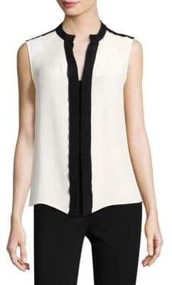 Derek Lam Silk Colorblock Blouse