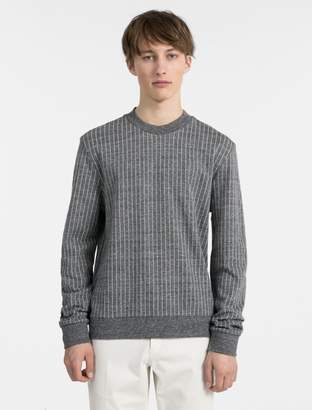 Calvin Klein cotton modal pinstripe sweater