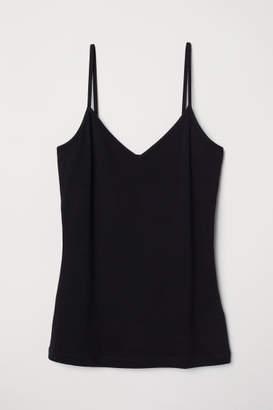 H&M V-neck Jersey Camisole Top - Black