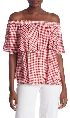 Show Me Your Mumu Bungalow Gingham Off-the-Shoulder Top