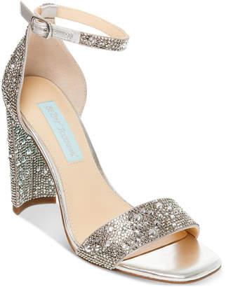 92673d7720f Betsey Johnson Silver Heeled Women s Sandals - ShopStyle