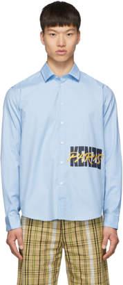 Kenzo Blue Logo Casual Shirt