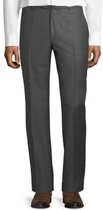 Santorelli Men's Sharkskin Wool Dress Pants