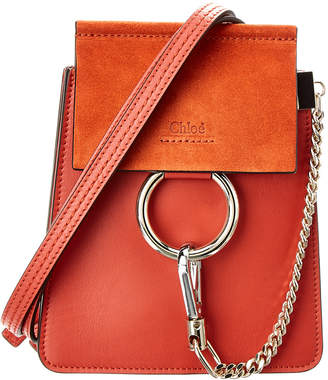 Chloé Faye Small Leather & Suede Bracelet Bag