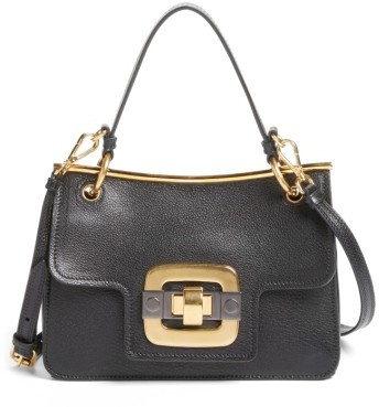 Miu Miu Miu Miu Madras Leather Shoulder Bag - Black
