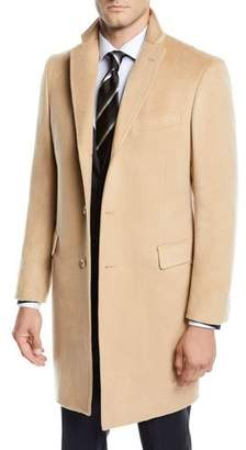 Neiman Marcus Men's Cashmere Car Coat, Camel Beige