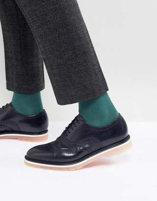 Paul Smith Brody Leather Brogue In Dark Navy