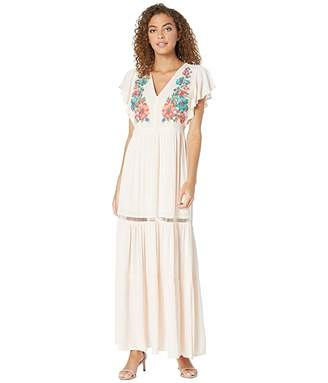 Miss Me Floral Embroidered Maxi Dress