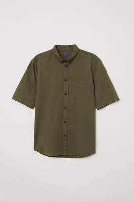 H&M Regular Fit Cotton Shirt - Green
