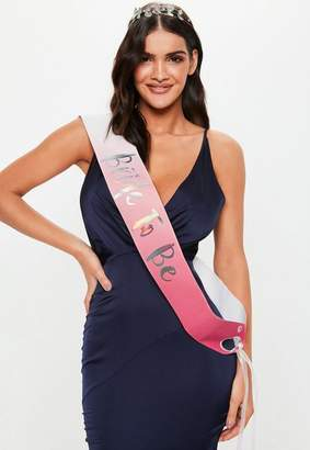 Missguided Iridescent Bride To Be Sash