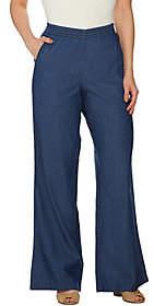Nobrand NO BRAND Denim & Co. Regular Chambray Pull-On Wide LegJeans