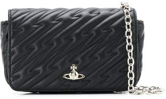 Vivienne Westwood quilted-effect logo cross body bag