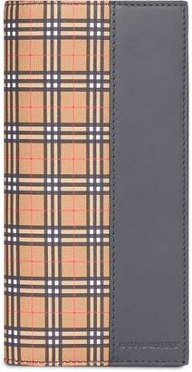Burberry Small Scale Check and Leather Continental Wallet