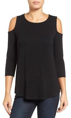 Petite Women's Halogen Knit Cold Shoulder Tee $39 thestylecure.com