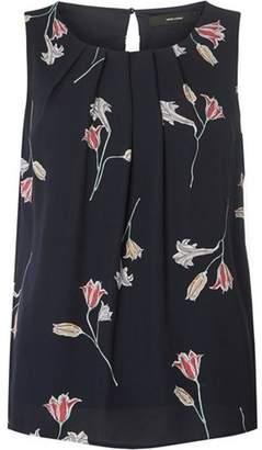 Dorothy Perkins Womens **Vero Moda Navy Floral Print Top