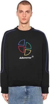 Ader Error Embroidered Cotton Jersey Sweatshirt