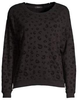 Rails Marlo Cheetah Zipper Sweatshirt