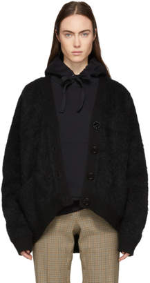 Acne Studios Black Mohair Rives Cardigan