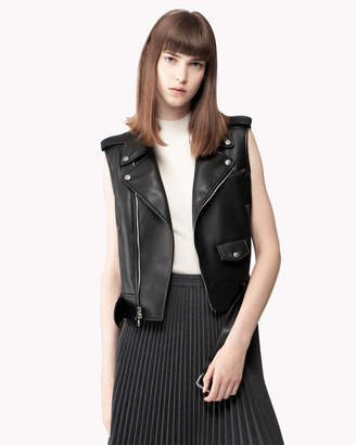Theory (セオリー) - 【Theory】Bedford Faux Leather Moto Vest
