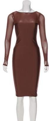 Thomas Wylde Long Sleeve Midi Dress