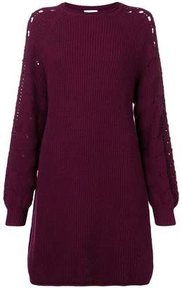 See by Chloe long-sleeve knitted dress