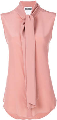 Moschino sleeveless scarf tie blouse
