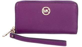 MICHAEL Michael Kors Leather Zip-Around Wallet