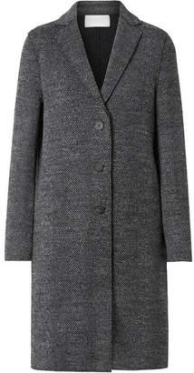 Harris Wharf London Herringbone Wool-tweed Coat - Gray