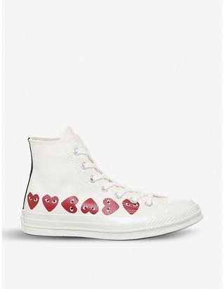 Comme des Garcons x Converse heart-print canvas trainers