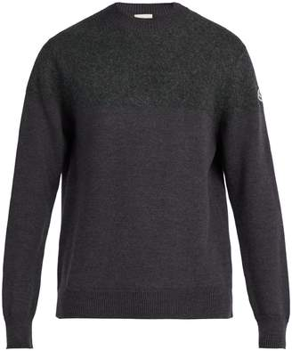 Moncler Crew-neck gauge-knit wool sweater
