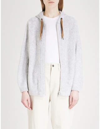 Brunello Cucinelli Contrasting drawstring fleece hoody