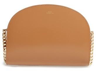 A.p.c. Sac Luna Leather Shoulder Bag - Beige $575 thestylecure.com