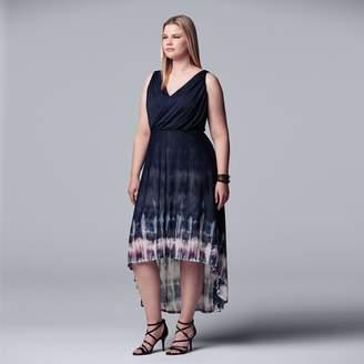 Vera Wang Plus Size Simply Vera Printed High-Low Dress