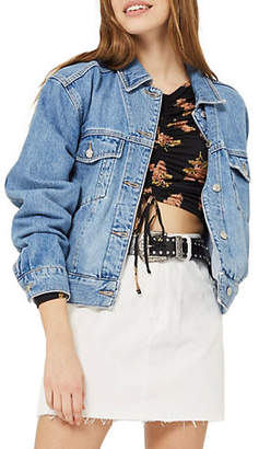 Topshop PETITE Oversized Denim Jacket