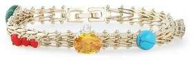 Iosselliani Gold-Tone Crystal And Stone Bracelet