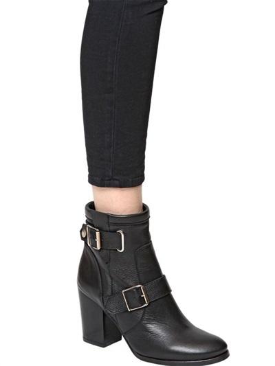 Kurt Geiger 80mm Aubrey Leather Ankle Boots
