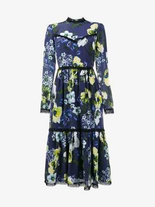 Erdem floral print tiered dress
