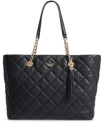 Kate Spade New York Emerson Place - Priya Quilted Leather Tote