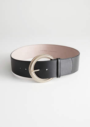 And other stories Embossed Buckle Belt