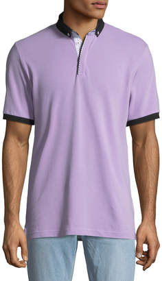 Maceoo Shaped-Fit Polo w/ Contrast Trim