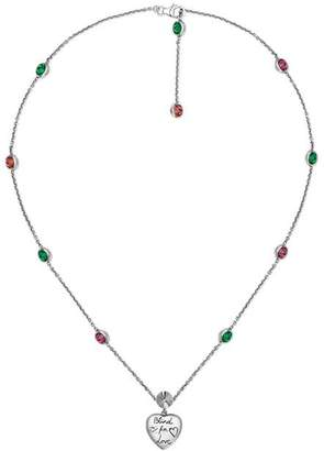 Gucci Blind for Love necklace in silver
