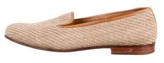 Stubbs & Wootton Contrast Woven Loafers