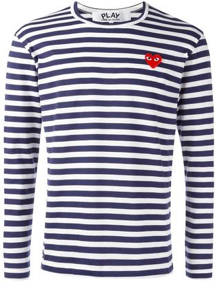 Comme Des Garçons Play striped longsleeved T-shirt $123.83 thestylecure.com