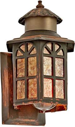 Rejuvenation Petite Copper Entry Sconce w/ Mica Panels