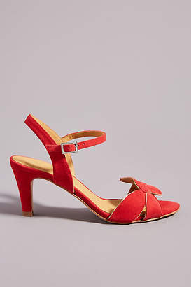 Emma.Go Emma Go Red Ankle Strap Heels