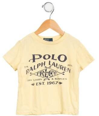 Polo Ralph Lauren Boys' Short Sleeve Crew Neck T-Shirt