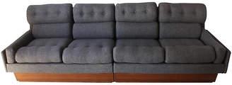 One Kings Lane Vintage Danish Modern Teak & Gray Tweed Couch