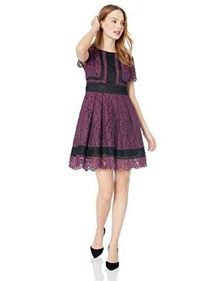 Eliza J Women's Petite Lace Fit and Flare Dress