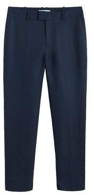 MANGO Linen suit trousers