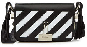 Off-White Mini Flap Leather Shoulder Bag
